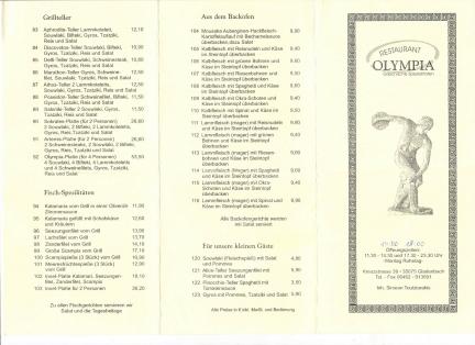 Grieche Olympia Gladenbach